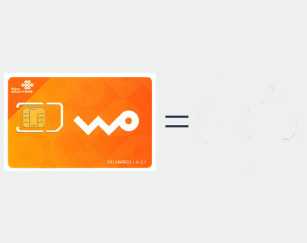 China Cell mobile card, sim card Rental